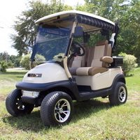 2014 Club Car lifted with ultimate golf seating