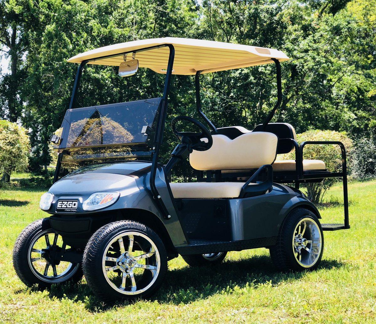 Metallic Charcoal EZGO with backseat kit
