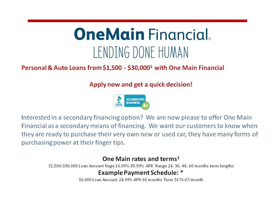 one main financial 2