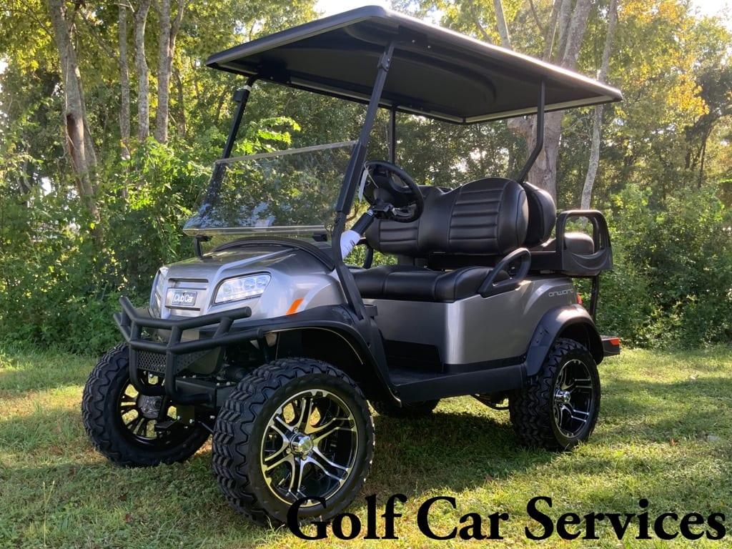platinum Onward with premium black seats and long black top with mercury rims